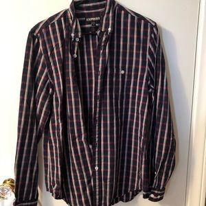 Express plaid button down dress shirt